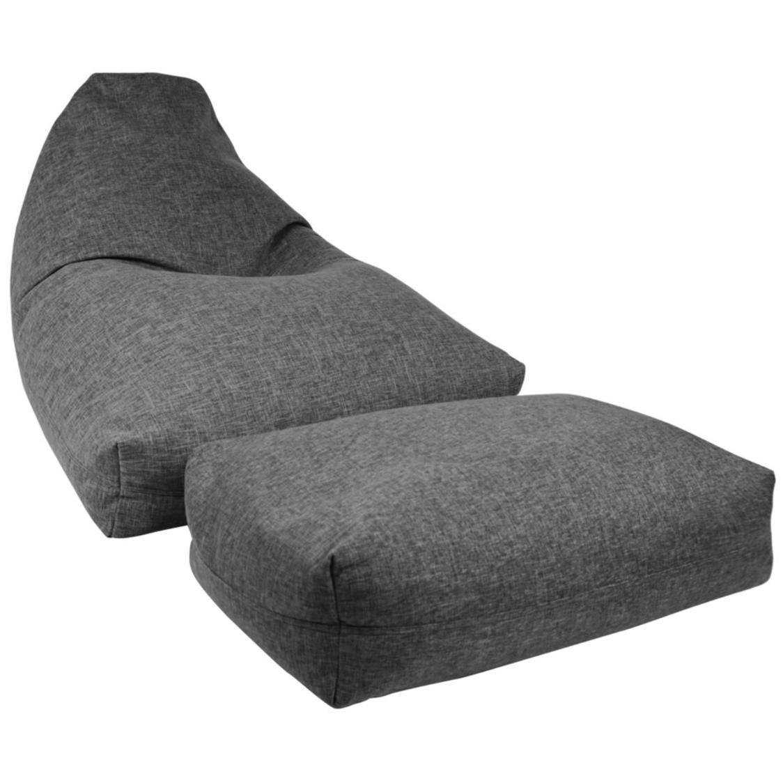 Moby Bean Bag  Ottoman in Grey