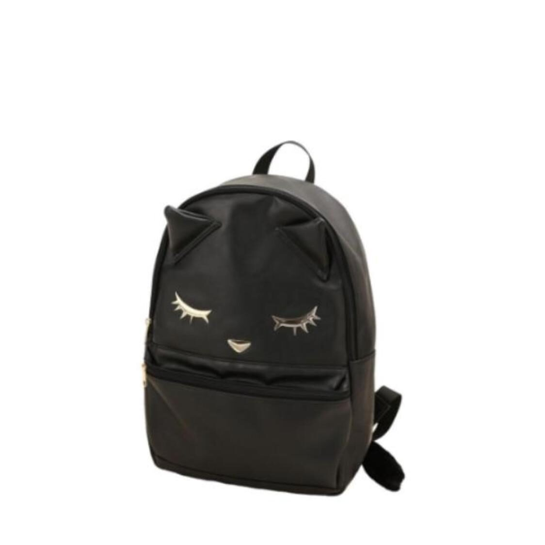 Backpack with Tail Black