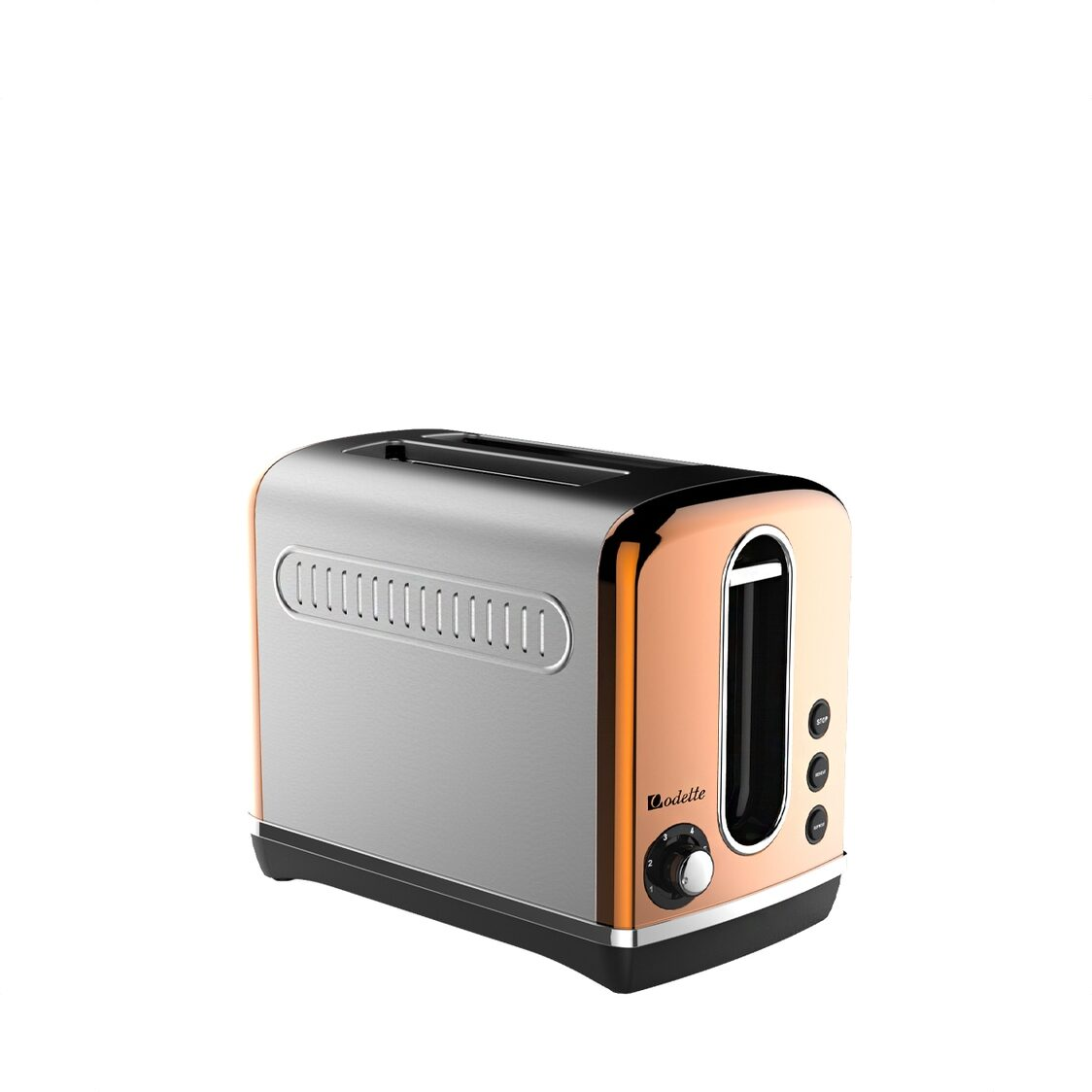 2 Slice Retro Design Toaster Copper