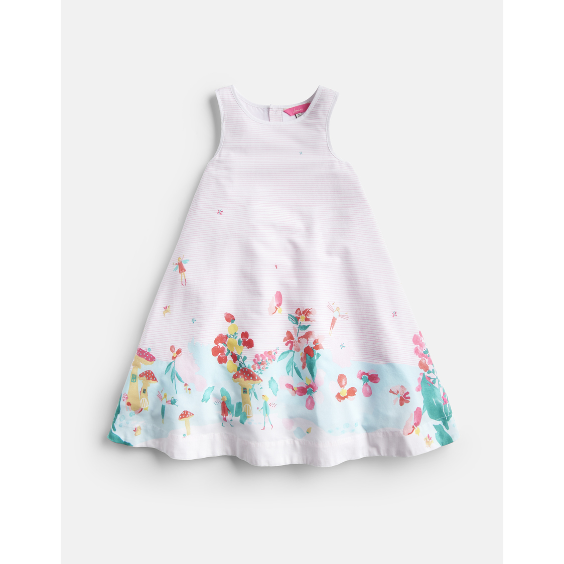 Bunty Woven Printed Dress 1-6 Yr Fairy Border