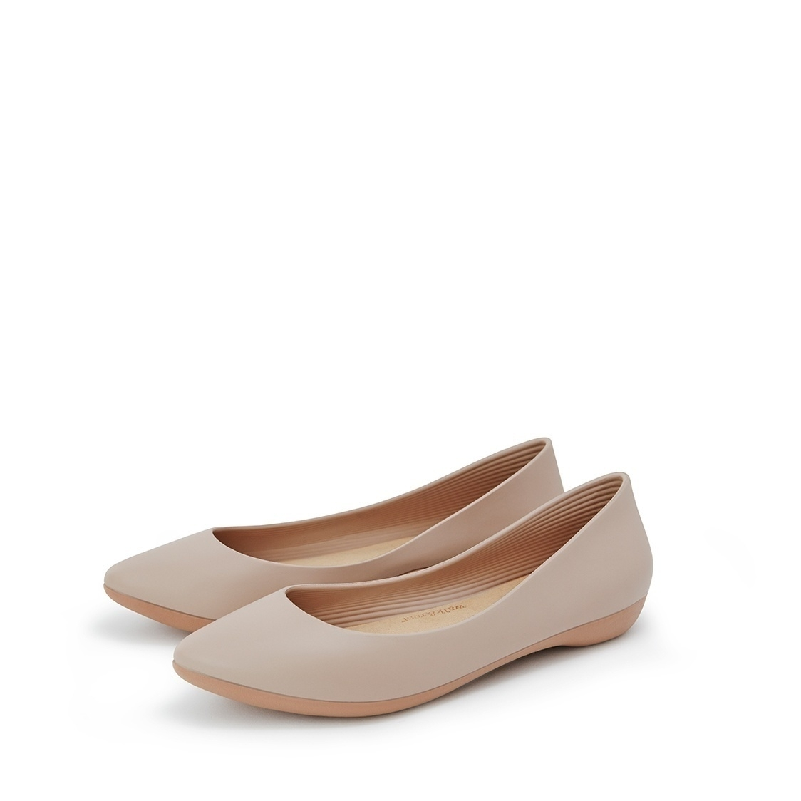 F2 Flat-Pointed Heel height 2cm Nude Beige