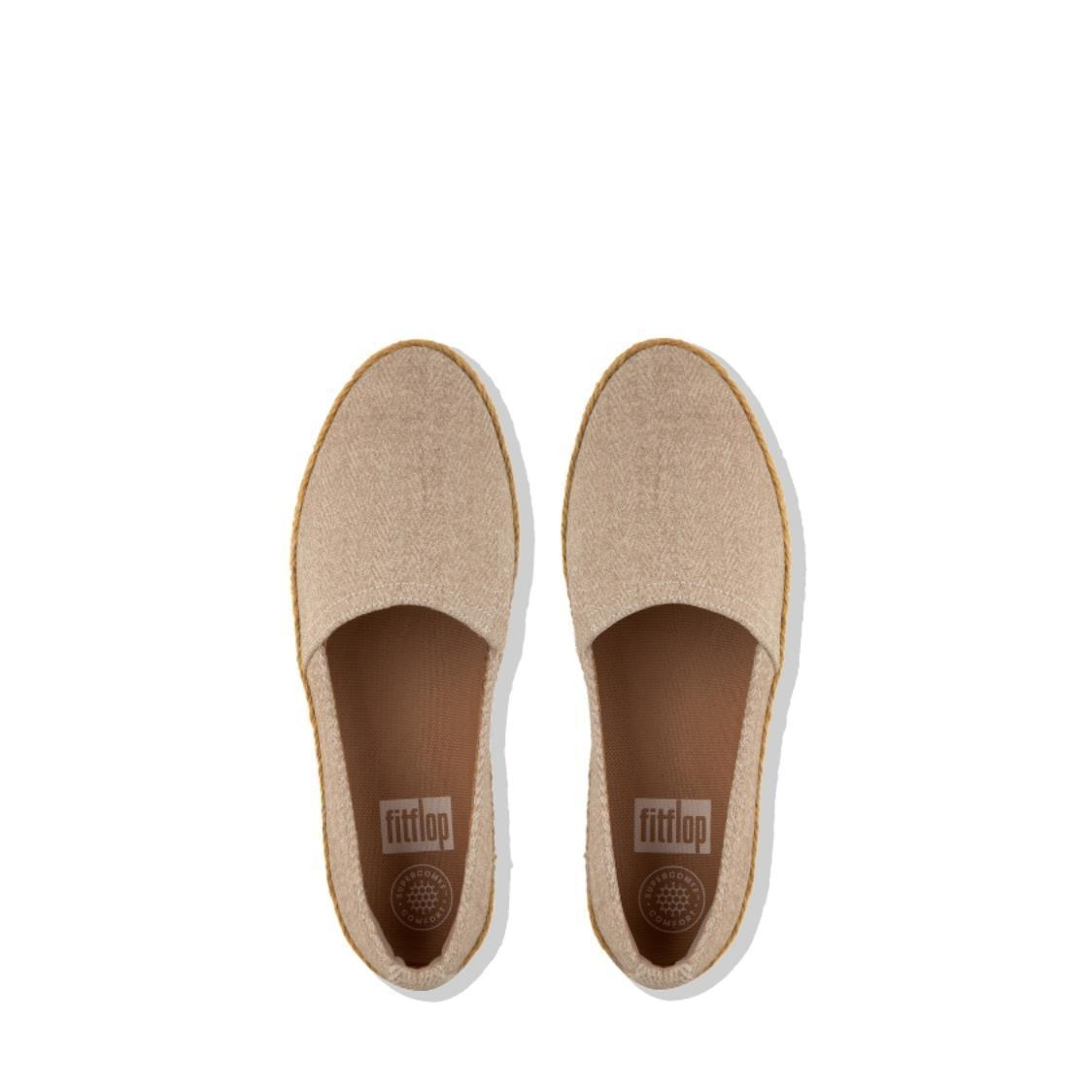 Casa Shimmer Twill Loafers Urban White