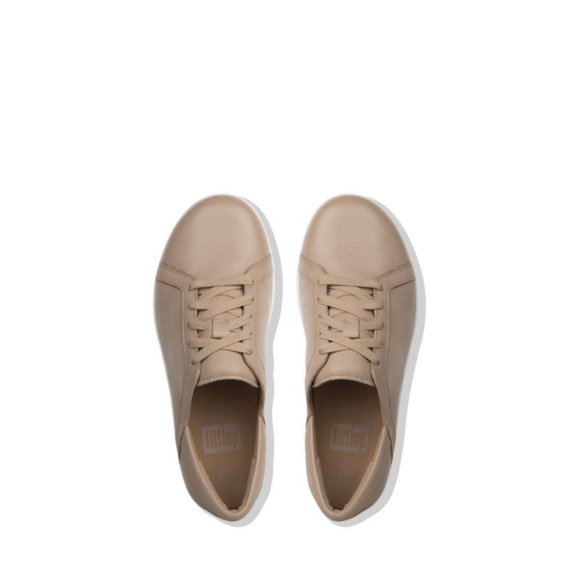 F-Sporty II Leather Lace Up Sneakers Nude
