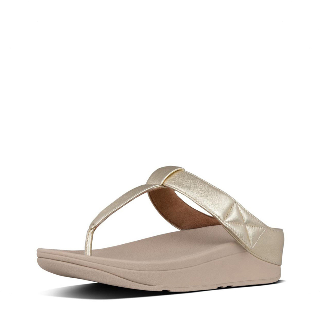 Fitflop Mina Toe Thongs Platino