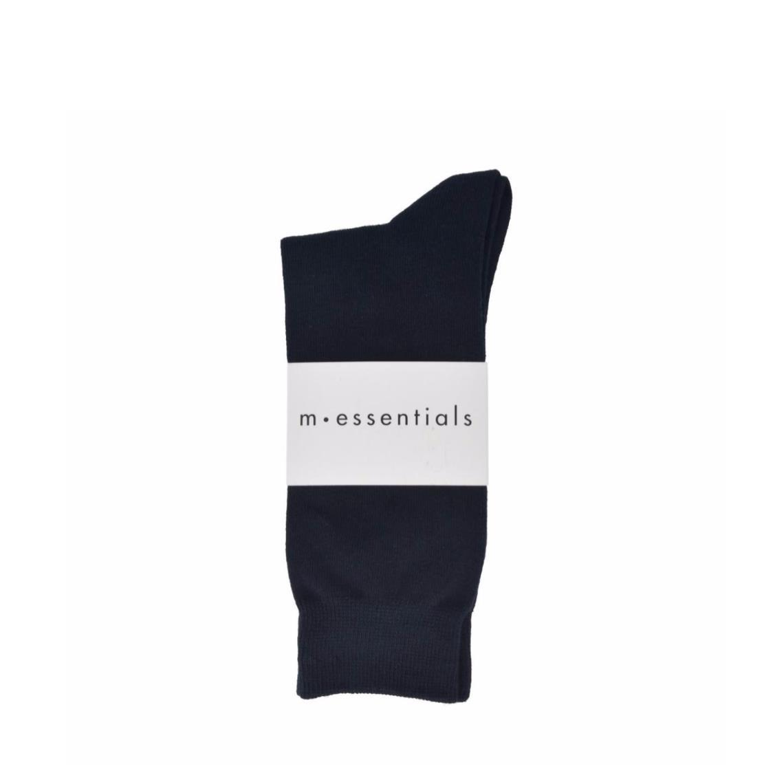 Mens Plain Cotton Socks In Solid Navy