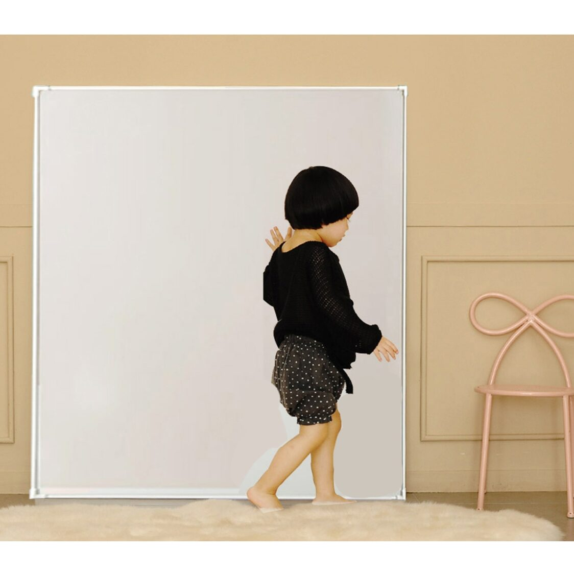 Premium Magnetic Board - Jeje Square MignonM - Grey