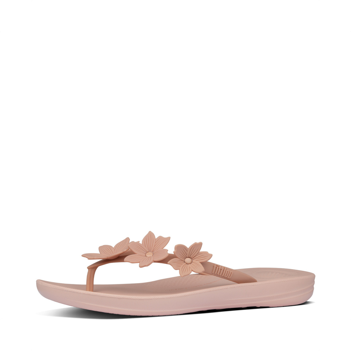 Fitflop iQushion Floral Flip-Flops Dusty Pink