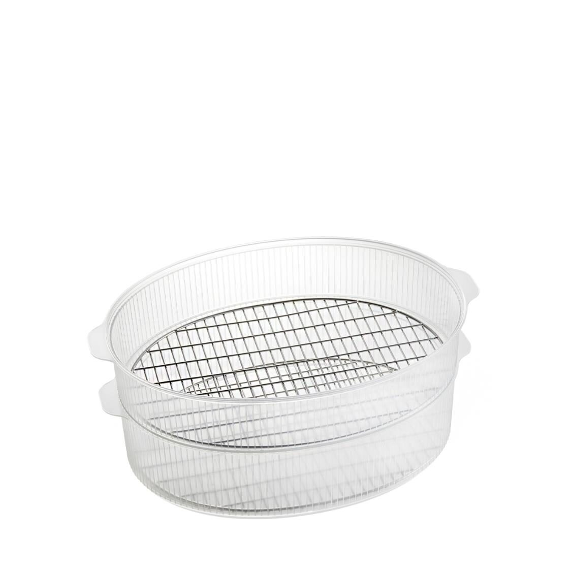 Double Steamer for Oval Hot Plate
