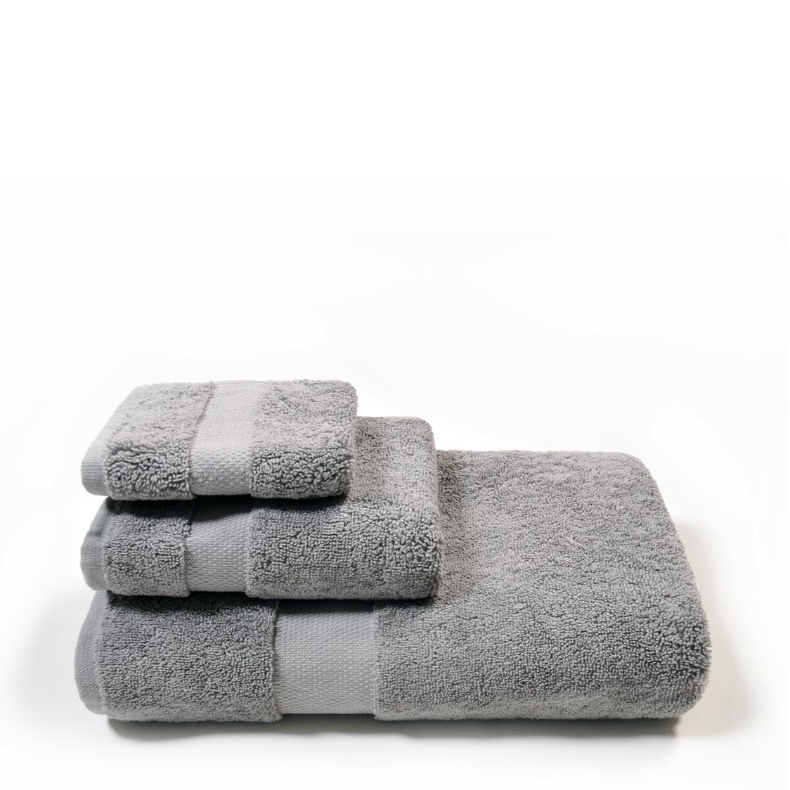 Organic Combed Hand Towel Grey
