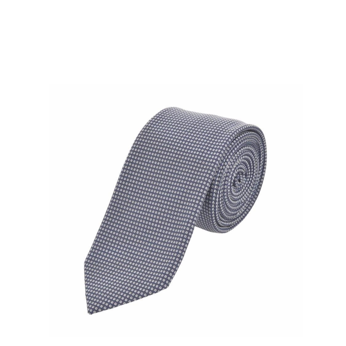 Jacquard Silk Tie In Navy