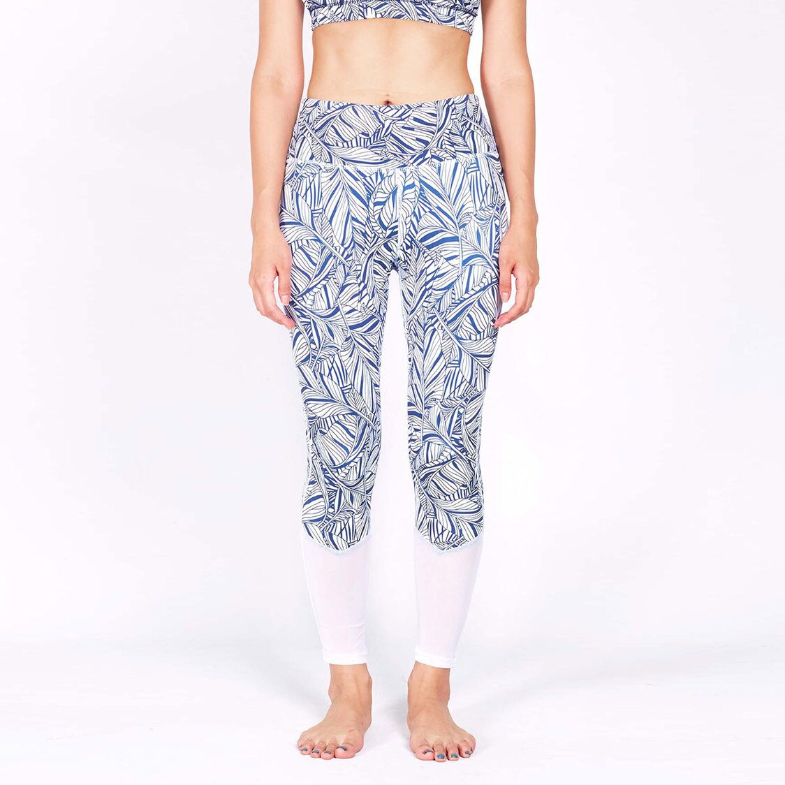 HYPE Blocking Leggings with Keeperband in Mesh Liberty Print