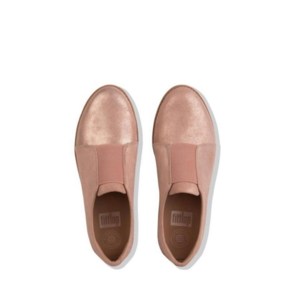 Laceless Derby Leather Shoes Apple Blossom