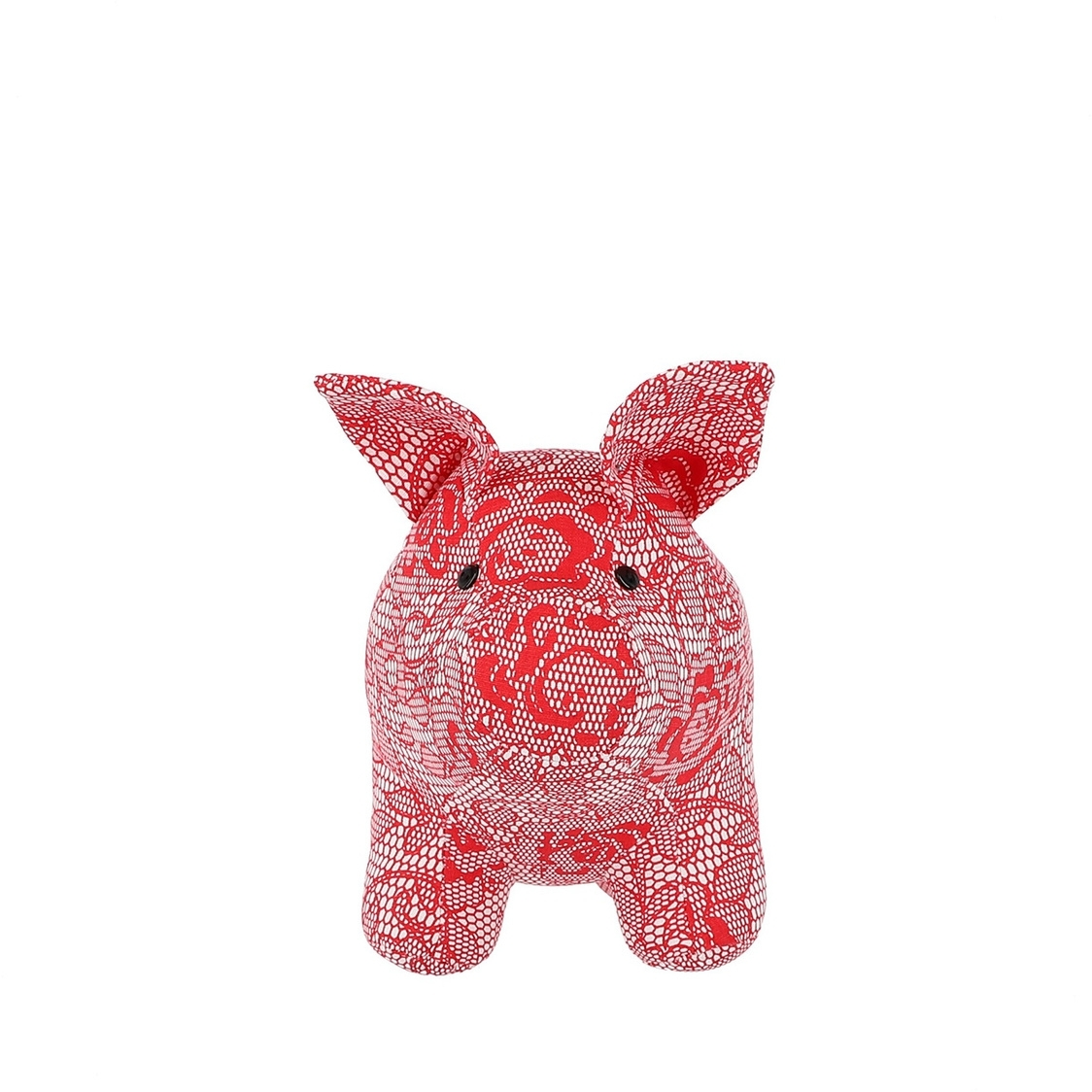 Mascot Pig Decoration in Red Lace