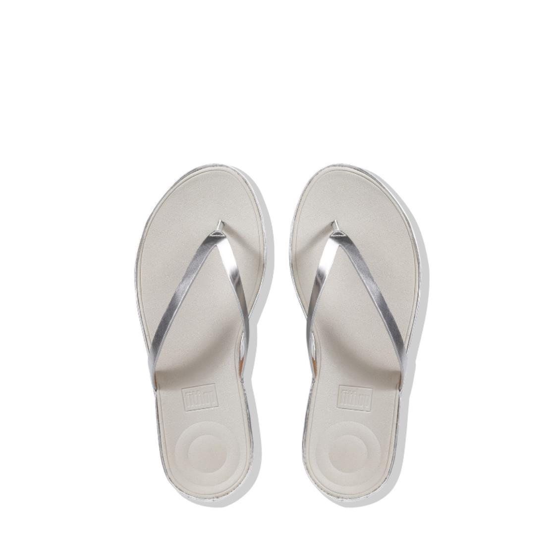 Linny Mirror Toe-Thong Sandals Silver