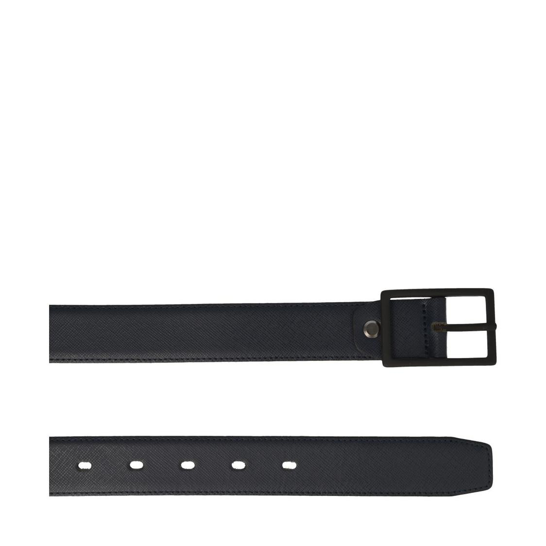 Leather Belt In Navy