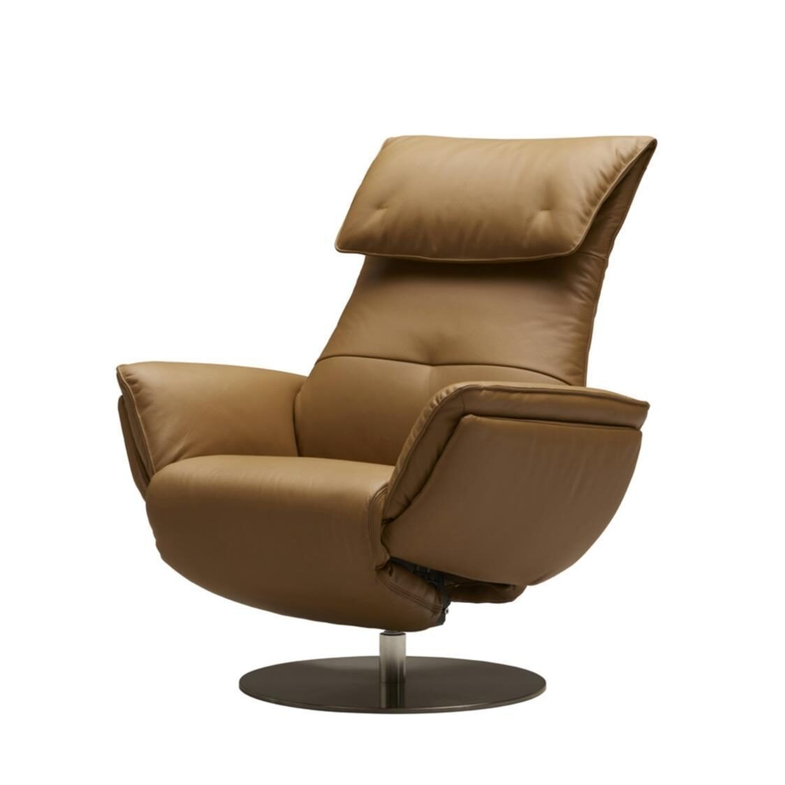 Wolke Chair - Half Leather L665L Camel