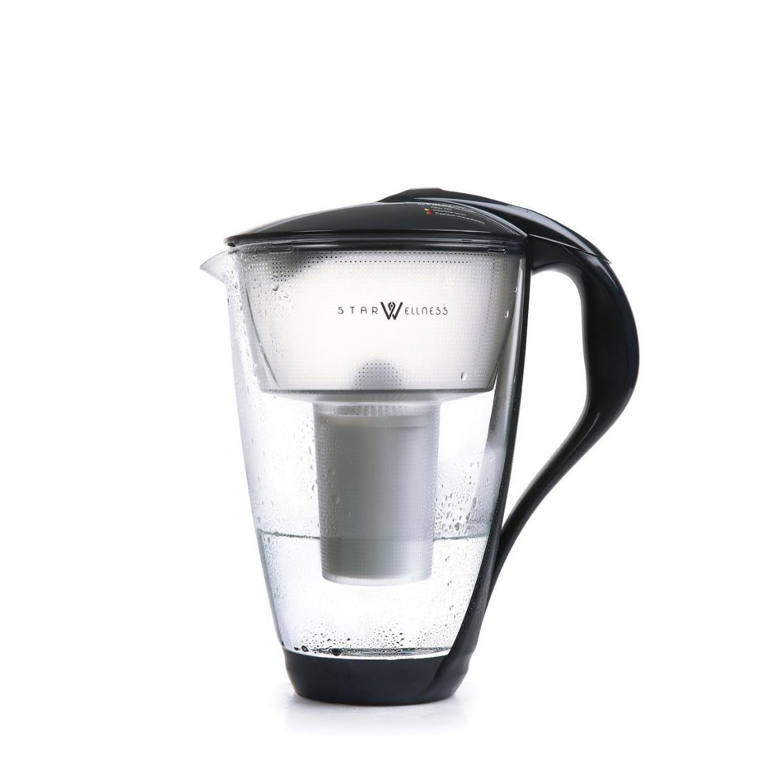 Crystal Glass Water Pitcher Black