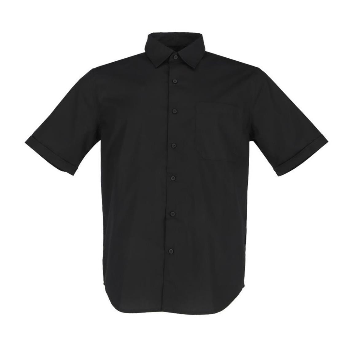 Mens Short Sleeve Shirt In Solid Black