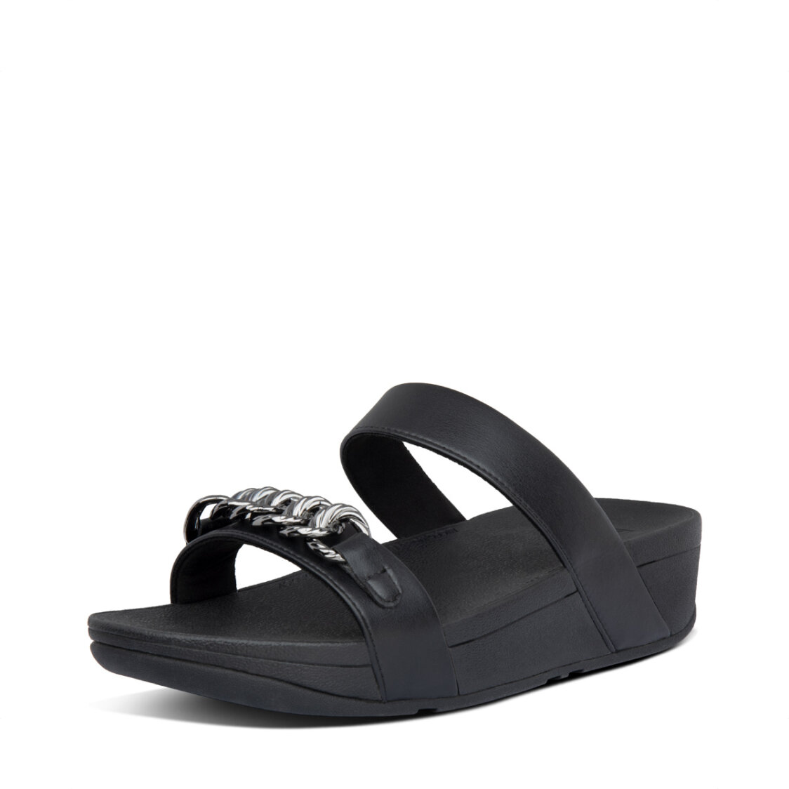 Fitflop Lottie Chain Slides All Black