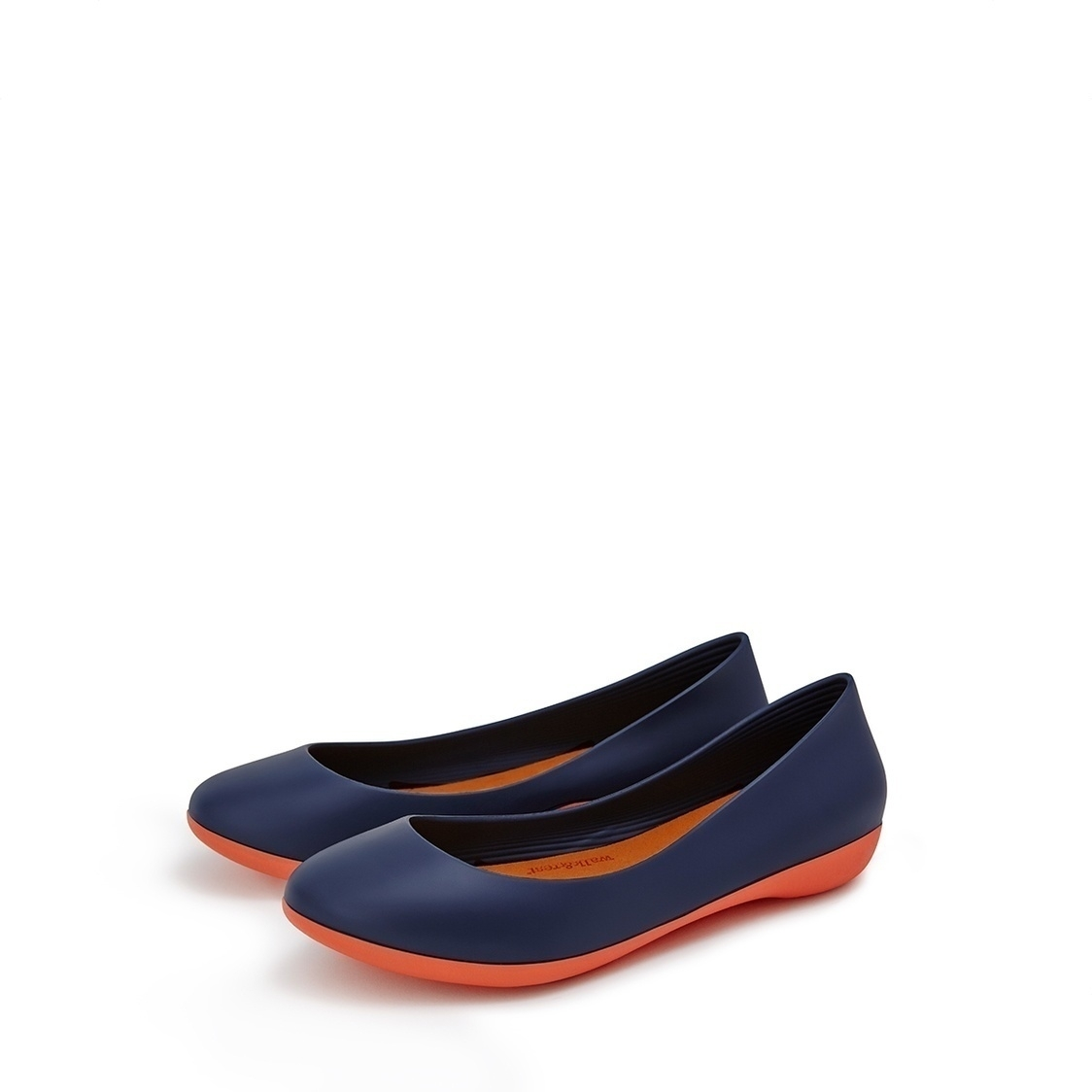 F2 Flat-Rounded Heel height 2cm Deep Navy