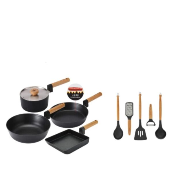 Happycall IH Forest Wood 4pc Cookware Set FOC Happycall Forest Wood 5pc Cooking Tools Set worth 5900 4900-00834900-0077