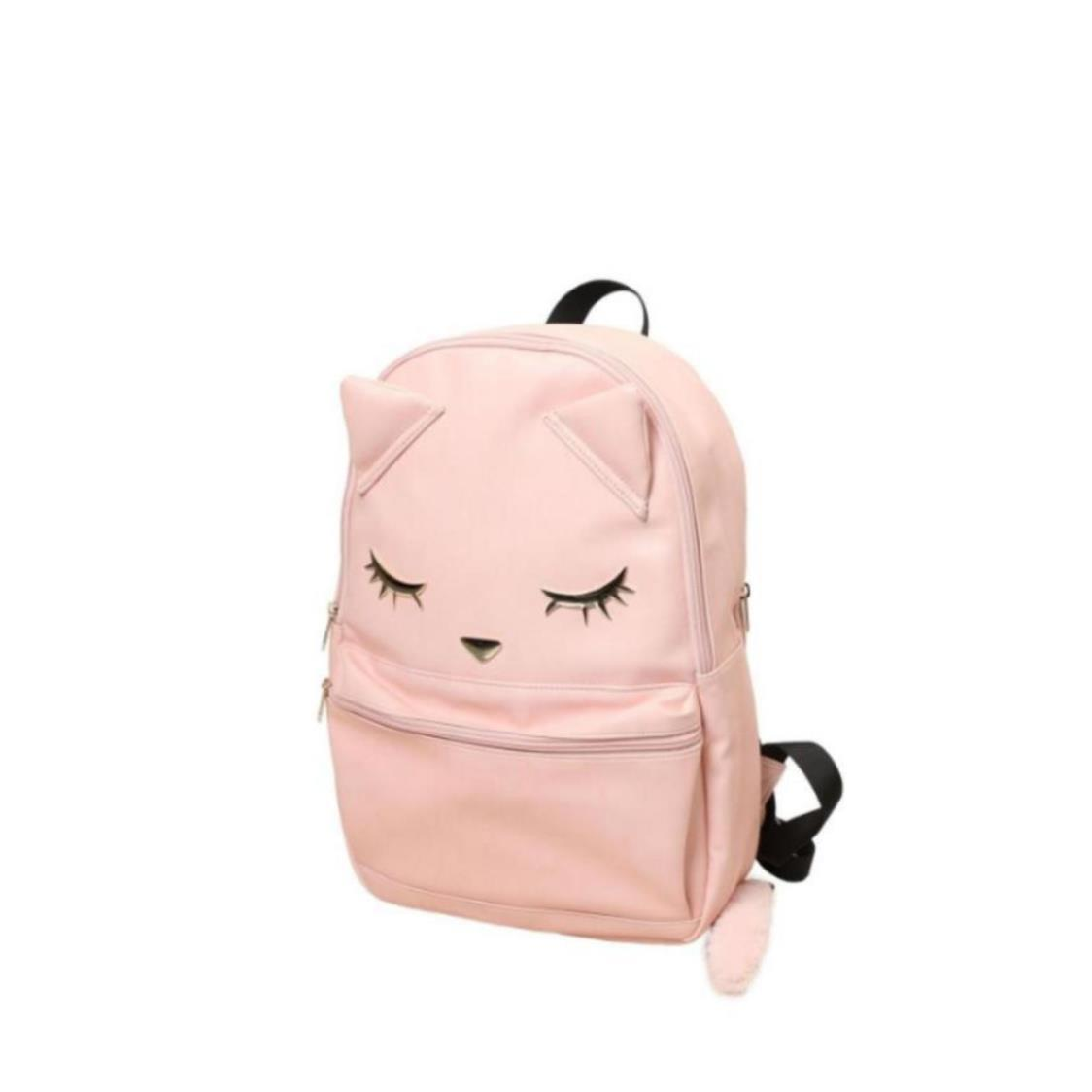 Backpack with Tail Pink